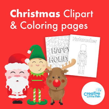 Christmas clipart and coloring pages