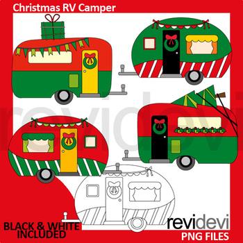 Christmas clipart bundle / lingerie, cocktail drinks, RV camper caravan