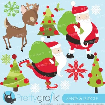Christmas clipart commercial use, vector graphics, digital clip art - CL590