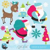 Christmas clipart commercial use, vector graphics, digital clip art - CL591