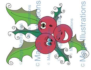 Christmas clipart, special handmade illustrations Christmas