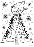 Christmas coloring pages bundle 3