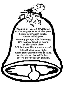 Christmas count down bell