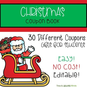 Christmas Coupon Book For Students Gift By Teach Growing Minds Tpt
