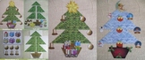 Christmas craft Printable Christmas trees, decorations & stars cut out xmas