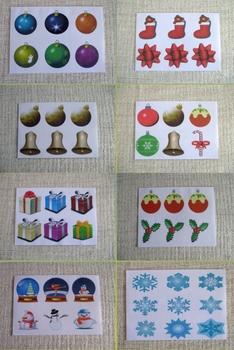 Christmas craft Printable Christmas trees, decorations & stars cut out xmas