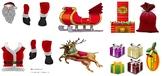 Christmas craft printable Santa Claus, reindeer and snowme