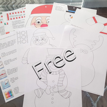 Winter crafts paper strip ornaments FREE fact sheet coloring pages