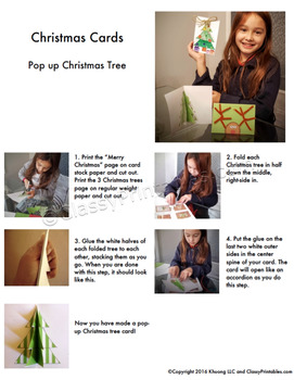 Christmas crafts printable Christmas Make Your Own cards