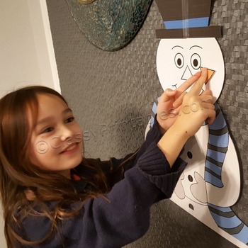 Winter activities printable Pin the Nose Frosty game FREE