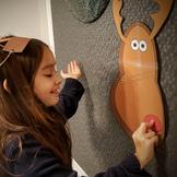 Christmas activities printable Pin the Nose Reindeer game
