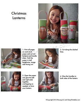 Christmas crafts printable lanterns FREE Christmas Around the World facts