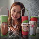 Christmas crafts printable lanterns FREE Christmas Around