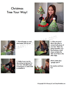 Christmas printable Design Your Own Christmas tree FREE coloring pages