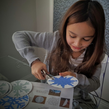 Winter crafts activities snowflake paper ornament