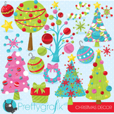 Christmas decorations clipart commercial use, vector, digital - CL762