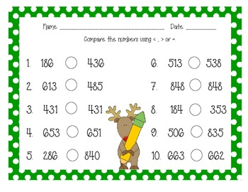 Christmas differentiated math activities