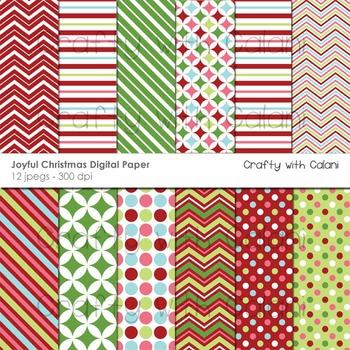 Christmas digital paper, Christmas digital background, Christma Clipart