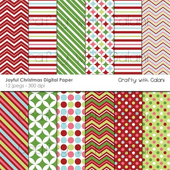 Christmas digital paper, Christmas digital background, Christma Clipart