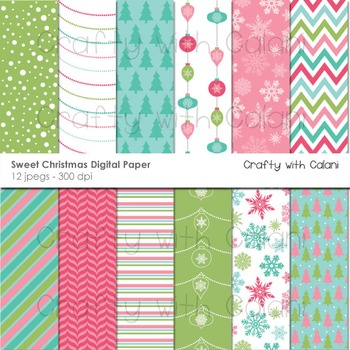 Christmas digital paper, Christmas digital background, Christmas Clipart
