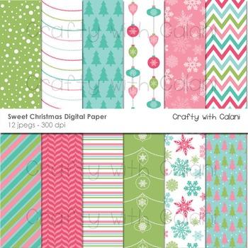 Christmas digital paper, Christmas digital background, Christmas Clipart
