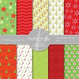 Christmas digital paper, commercial use, scrapbook papers, background - PS558