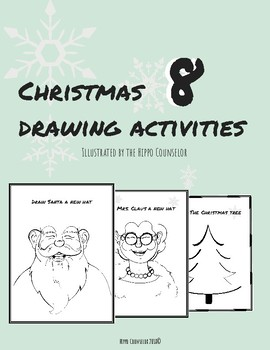 Christmas drawing activities - Finish the drawing