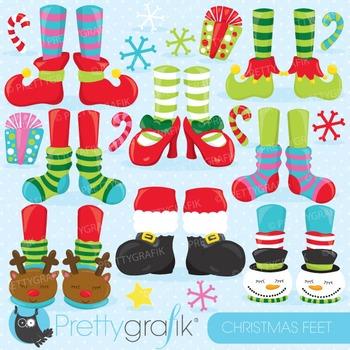 Christmas feet clipart commercial use, vector, digital - CL761