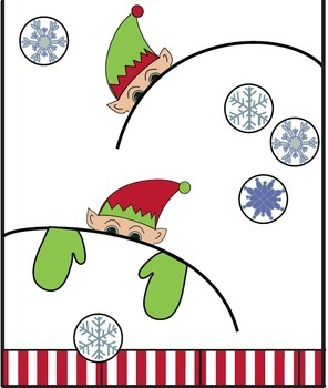 Winter festive elf theme door decor