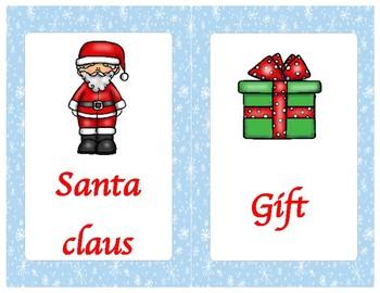 Christmas flashcards English big size and small size