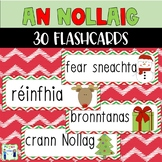 Christmas flashcards as gaeilge - An Nollaig