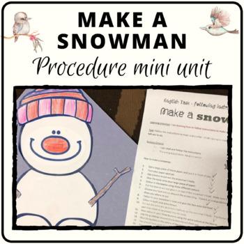 Christmas following directions make a snowman