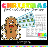 Traza figuras 2d  Shapes tracing   Christmas   Spanish cards & worksheets
