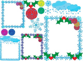 Christmas frames clip art school snow flake decoration claus Holiday santa -03-
