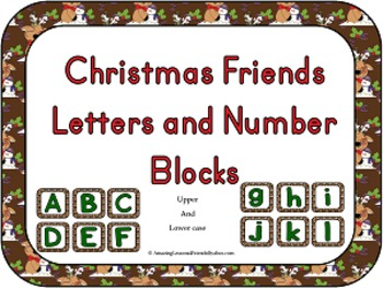 Christmas friends Letters and Number Blocks