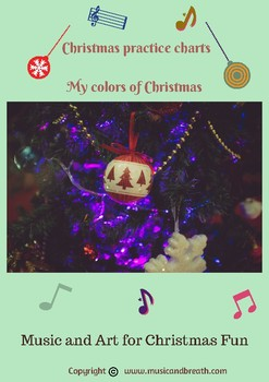 Christmas fun coloring music practice charts