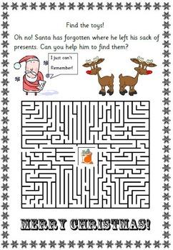 Christmas fun puzzle math pack ; printables, grades 2 3 4