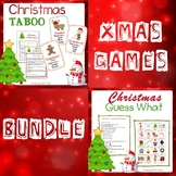 """Christmas games """"Taboo"""" and """"Guess what"""" + vocabulary slid"""