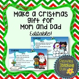 Christmas gift for parents, Christmas craft, Christmas writing