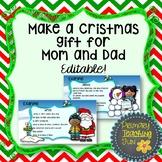 Christmas gift for parents, Christmas craft, Christmas writing