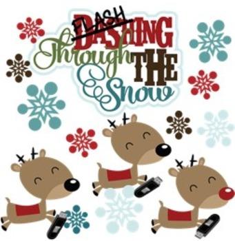 "Christmas gift tag for USB / Flash Drive - ""Flash""ing through the snow"