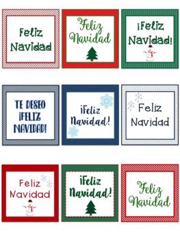 Christmas gift tags in Spanish - Feliz Navidad