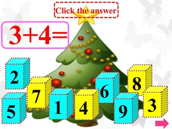 Wintrer Math - Addition - Subtraction - Fun Math - Interactive