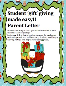 Editable Parent Letter: Christmas gifts made easy (by stud