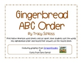Christmas, gingerbread, cookies, ABC order