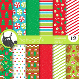 Christmas gingerbread papers, commercial use, scrapbook papers, - PS774