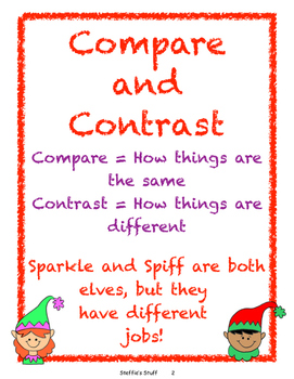 Christmas:  Compare/Contrast, Similes, Metaphors, Alliterations, Posters...