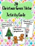 Christmas gross motor activity cards
