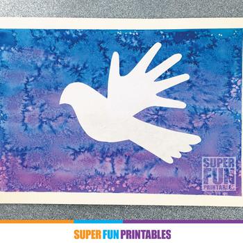 Christmas art handprint silhouette