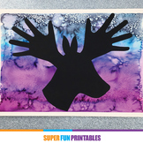 Christmas art handprint silhouette